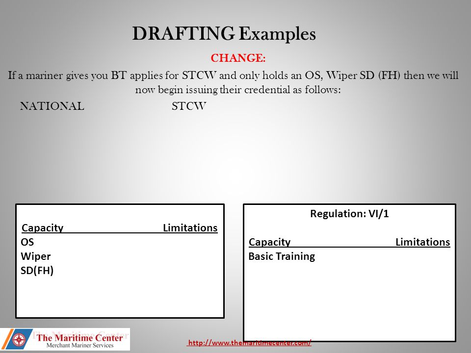 DRAFTING Examples