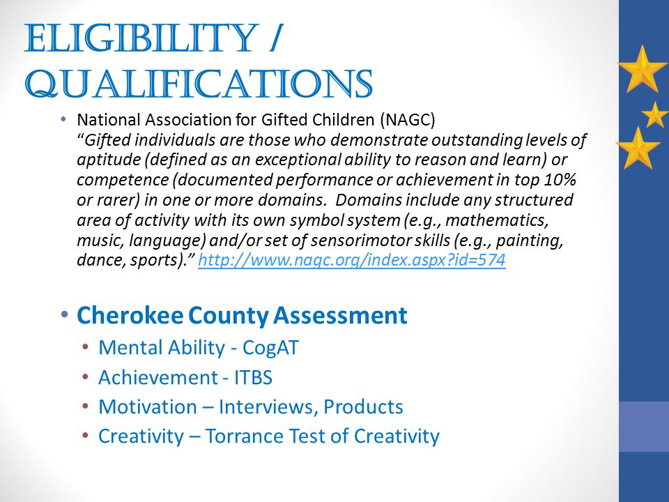 Eligibility / Qualifications