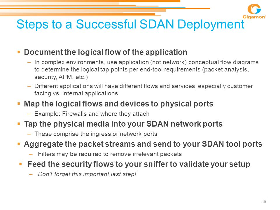 Steps to a Successful SDAN Deployment