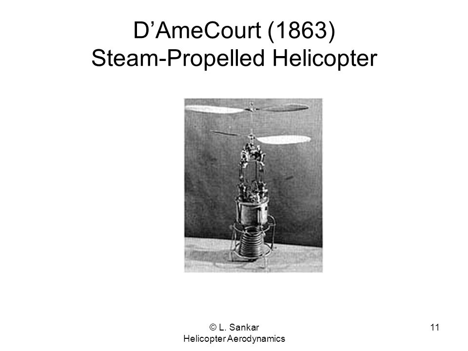 D'AmeCourt (1863) Steam-Propelled Helicopter