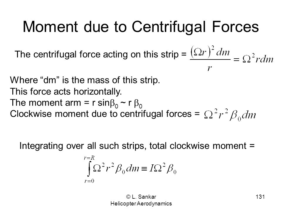 Moment due to Centrifugal Forces