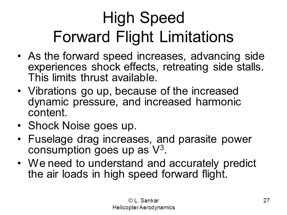 High Speed Forward Flight Limitations