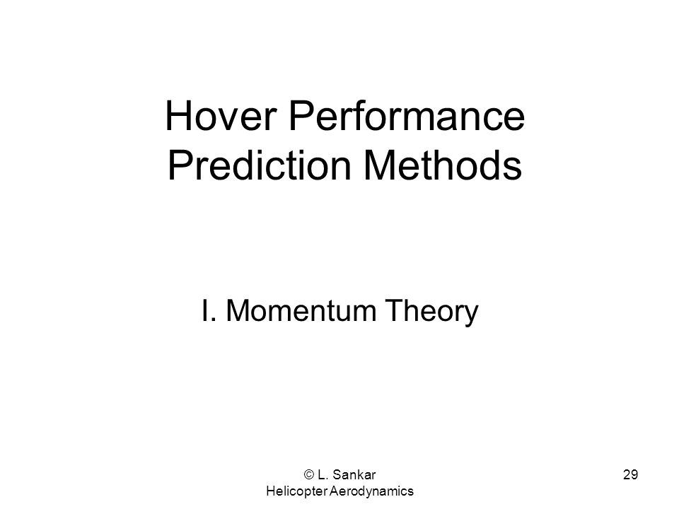 Hover Performance Prediction Methods