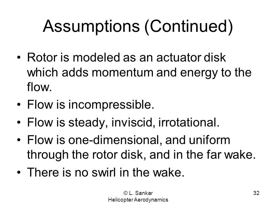 Assumptions (Continued)
