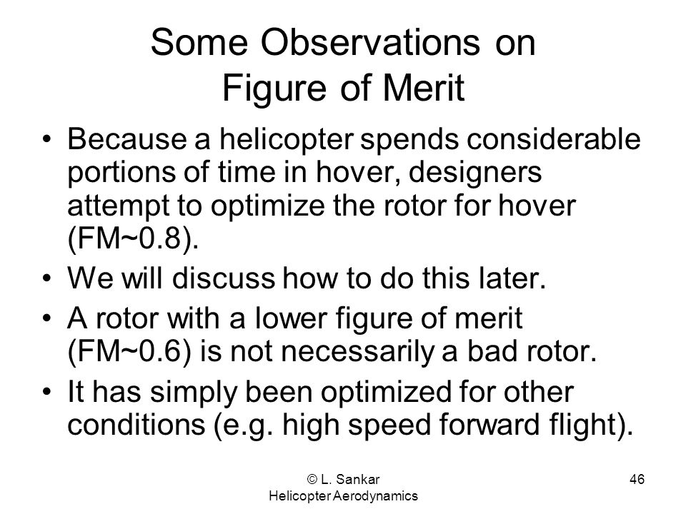 Some Observations on Figure of Merit