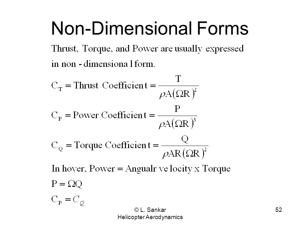Non-Dimensional Forms