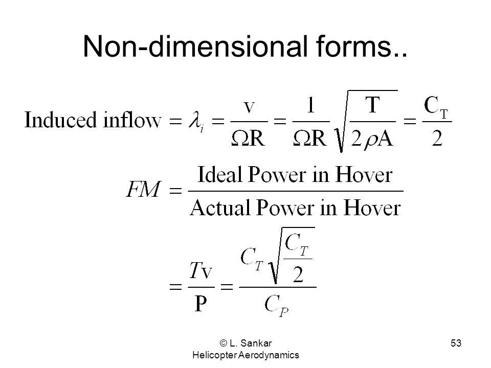 Non-dimensional forms..