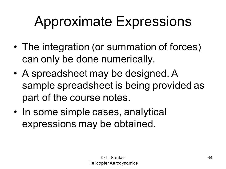 Approximate Expressions