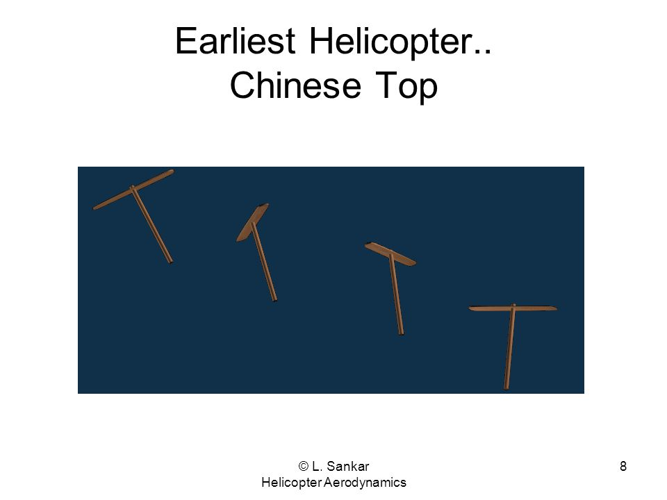 Earliest Helicopter.. Chinese Top