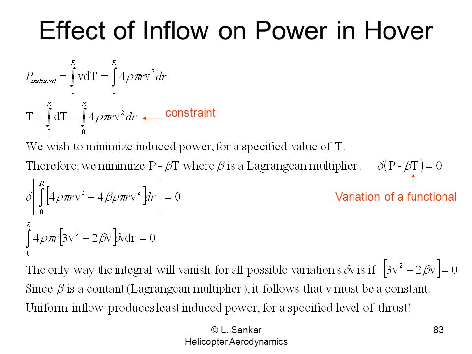 Effect of Inflow on Power in Hover