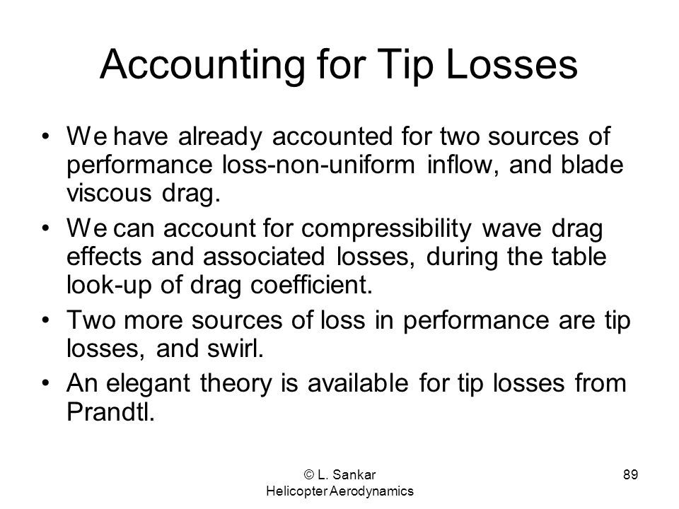 Accounting for Tip Losses