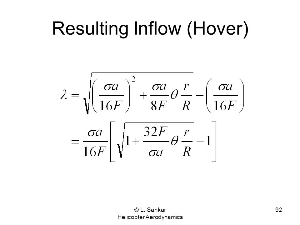 Resulting Inflow (Hover)