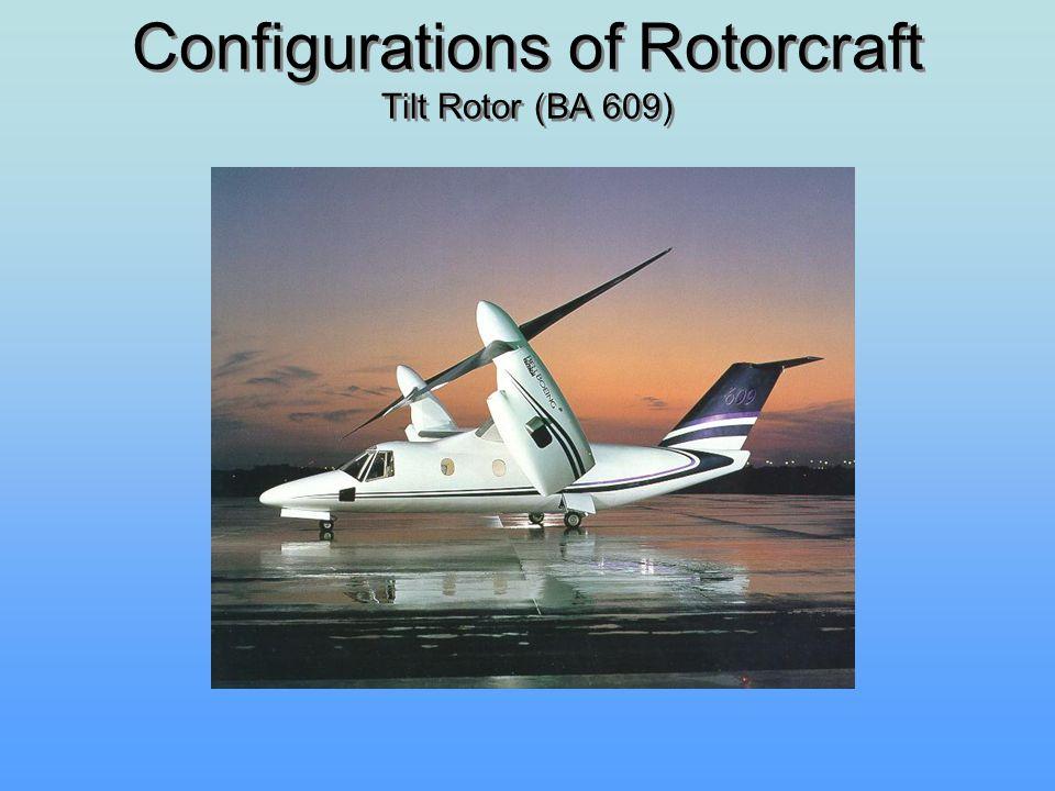 Configurations of Rotorcraft Tilt Rotor (BA 609)