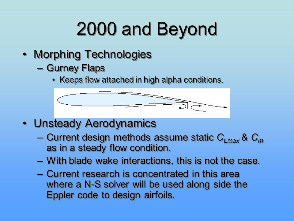 2000 and Beyond Morphing Technologies Unsteady Aerodynamics