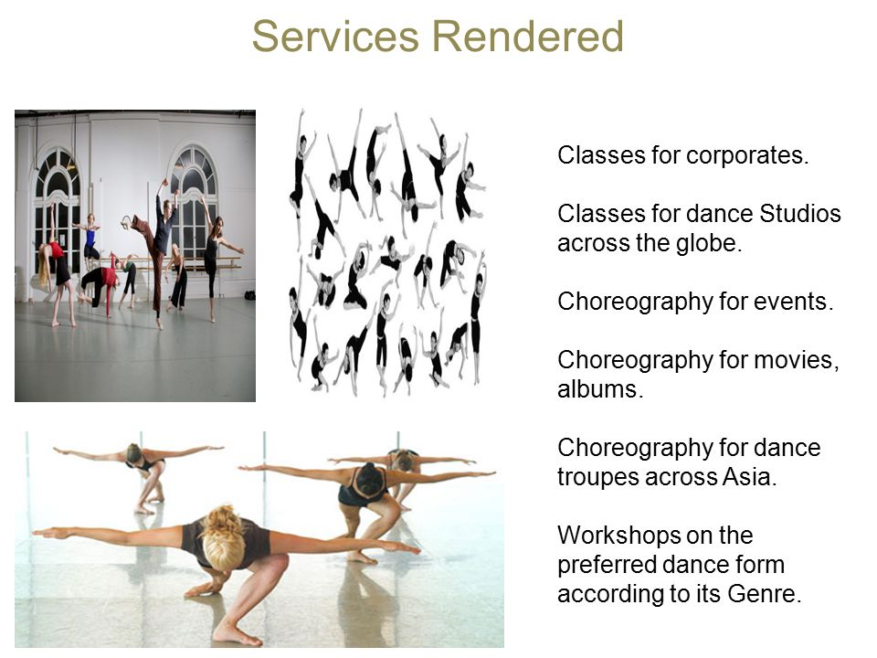 Services Rendered Classes for corporates.