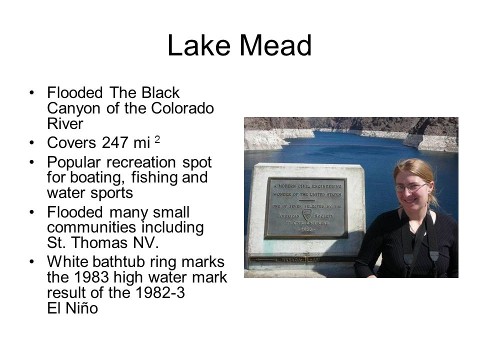 Lake Mead Flooded The Black Canyon of the Colorado River