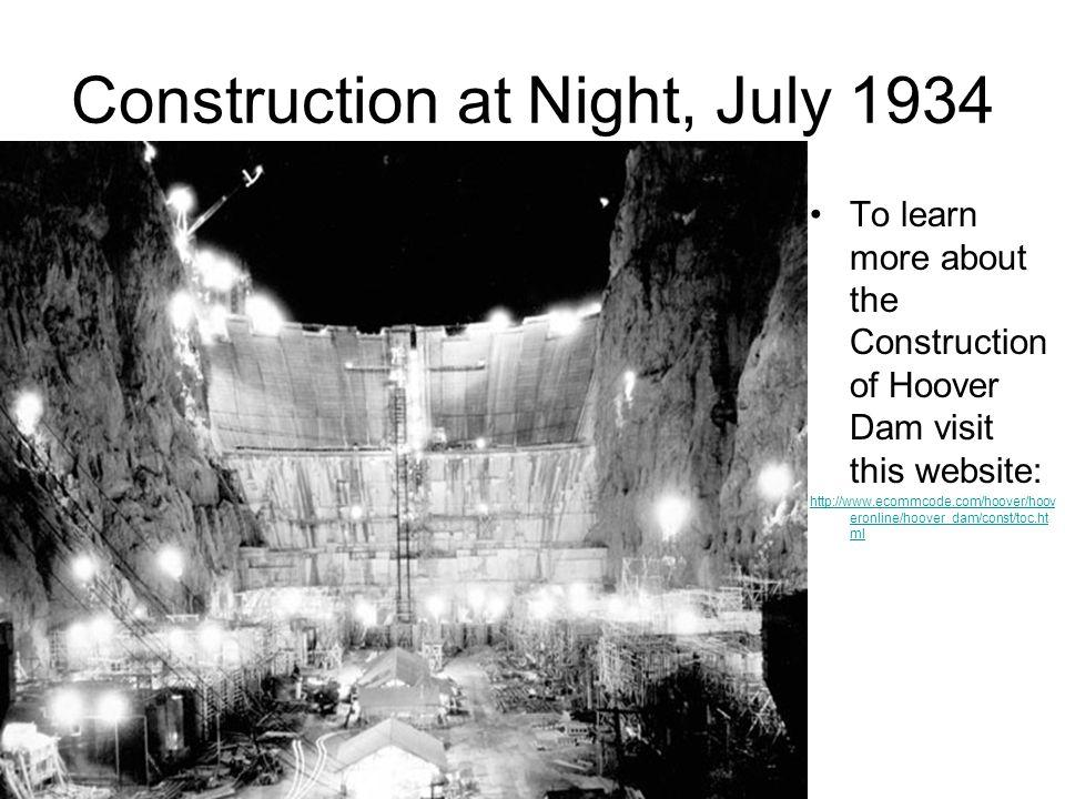 Construction at Night, July 1934