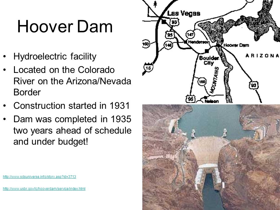 Hoover Dam Hydroelectric facility