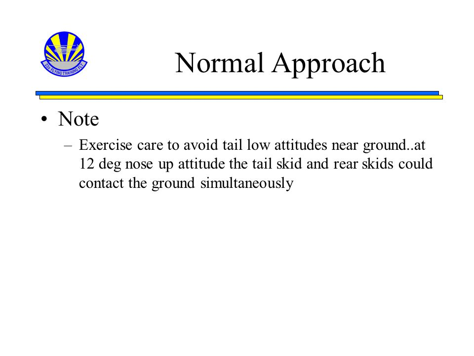 Normal Approach Note.