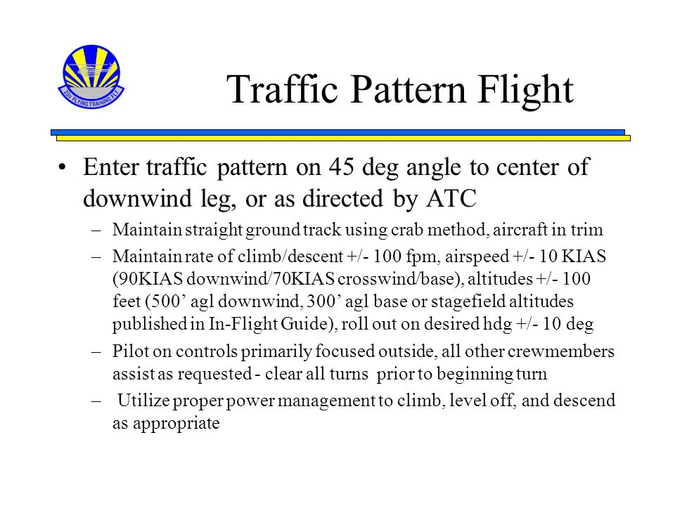 Traffic Pattern Flight