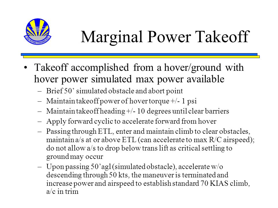Marginal Power Takeoff