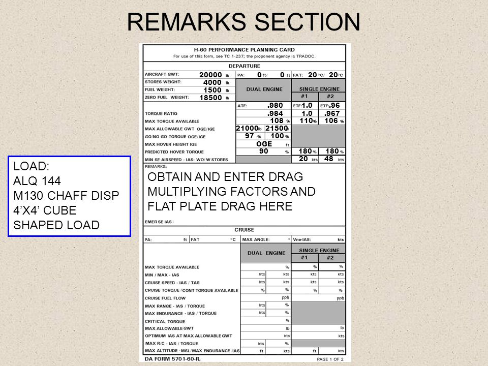 REMARKS SECTION LOAD: ALQ 144