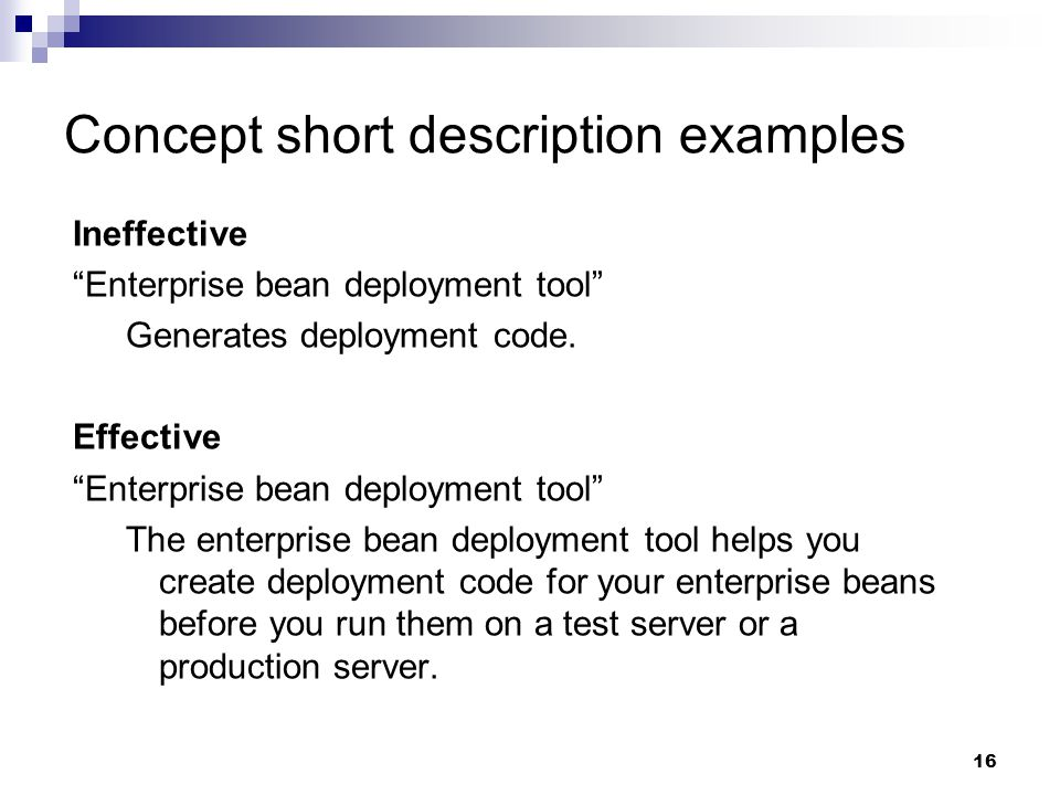 Concept short description examples