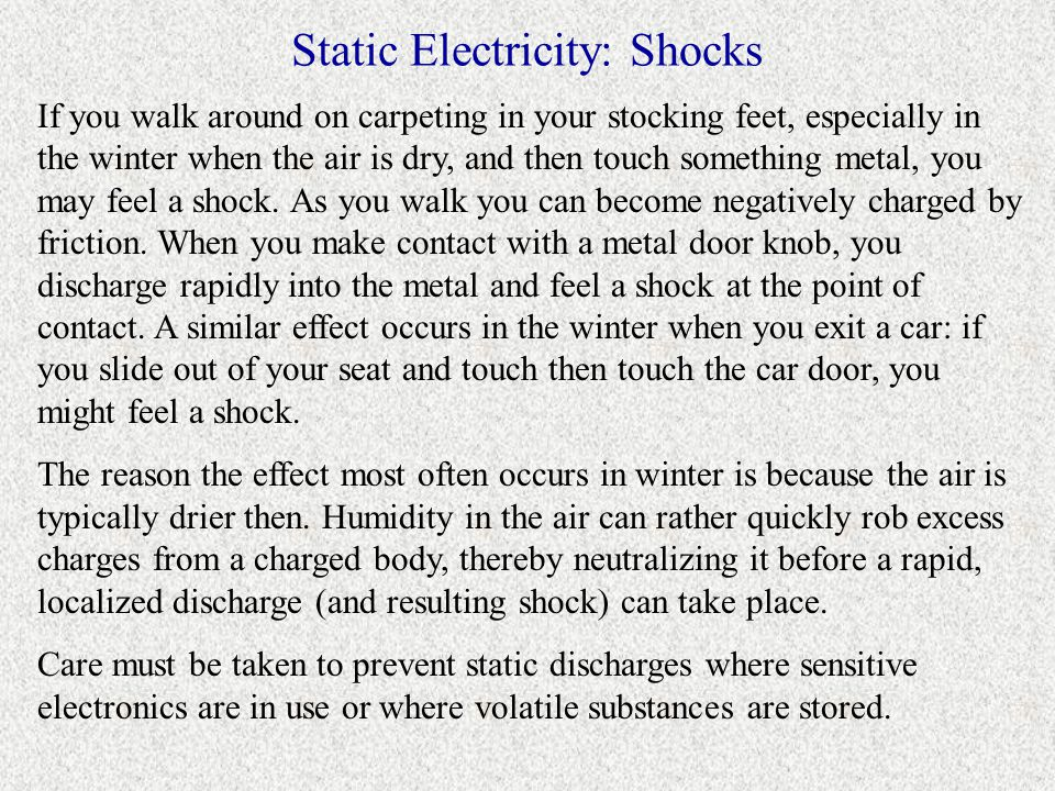 Static Electricity: Shocks