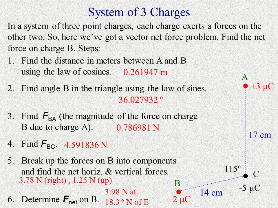 System of 3 Charges