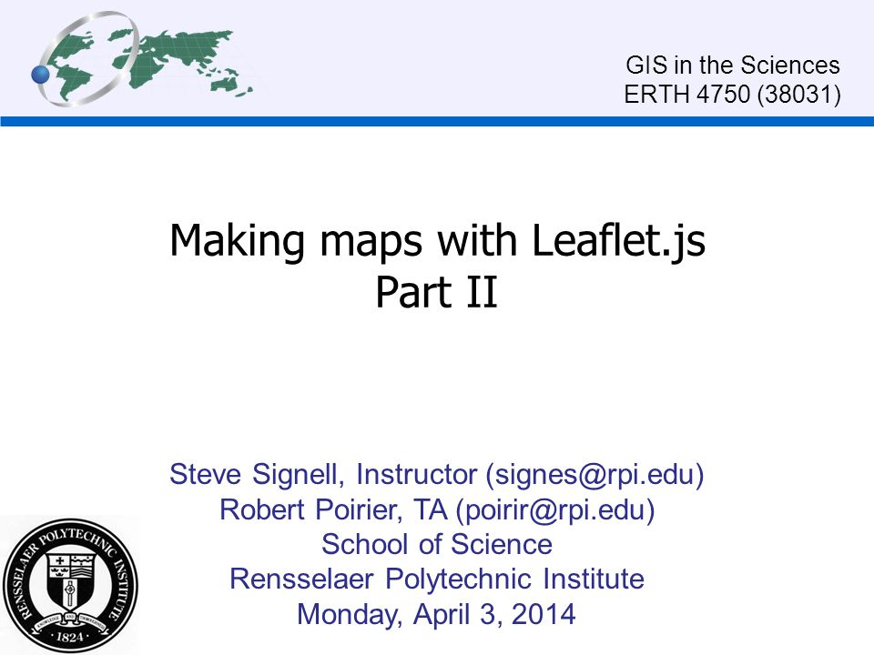 Making maps with Leaflet.js Part II