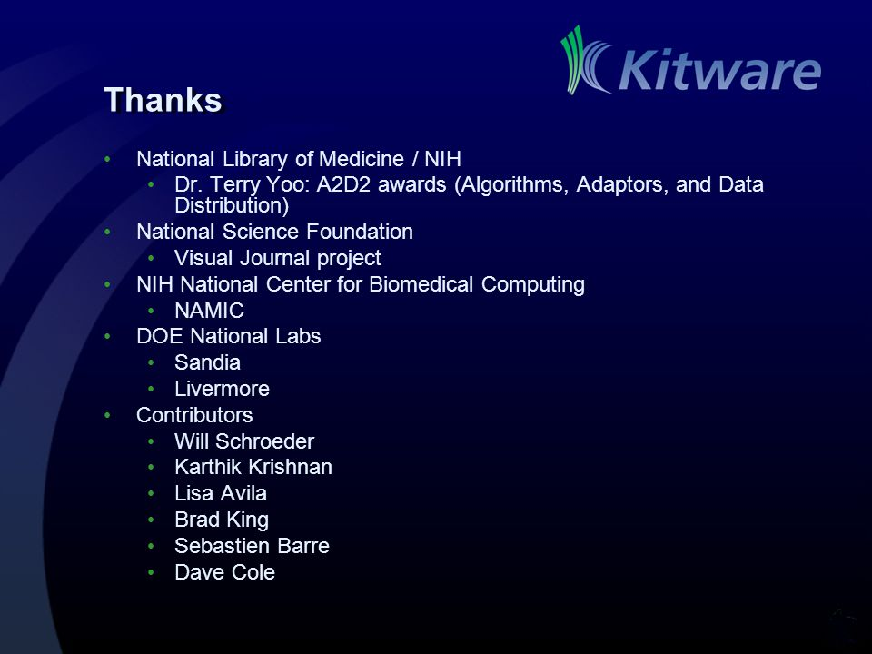 Thanks National Library of Medicine / NIH