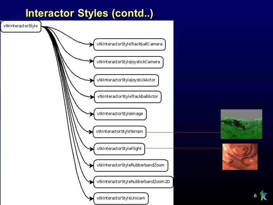 Interactor Styles (contd..)