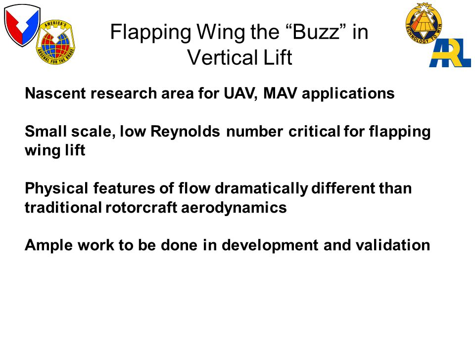 Flapping Wing the Buzz in Vertical Lift