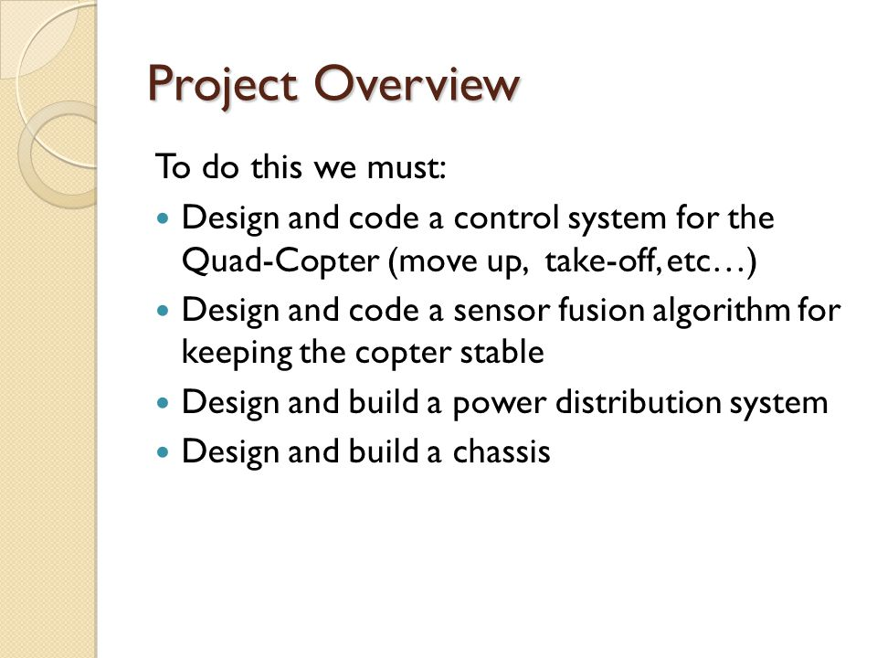 Project Overview To do this we must: