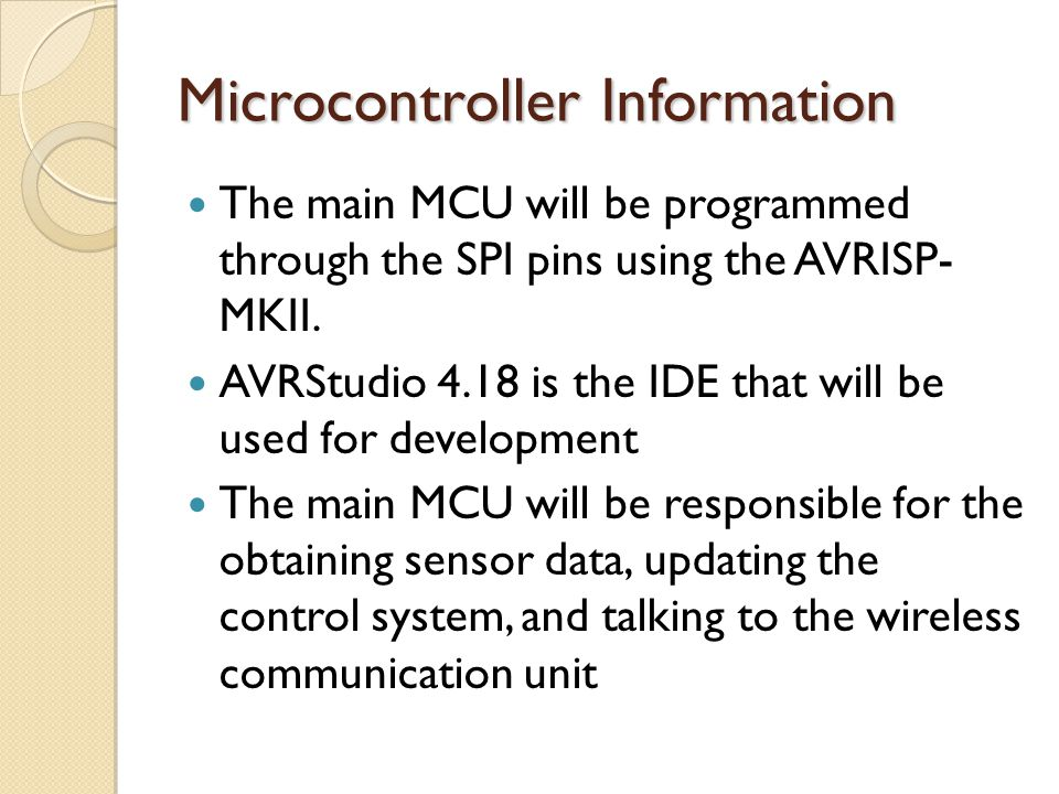 Microcontroller Information