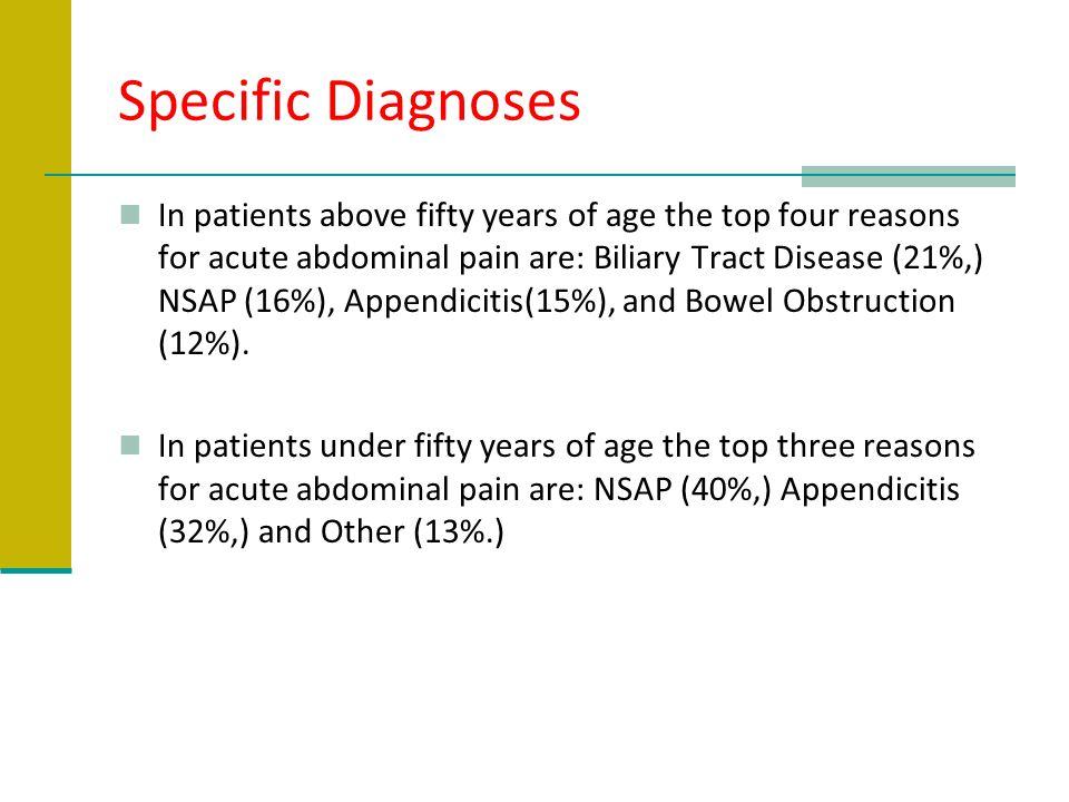 Specific Diagnoses