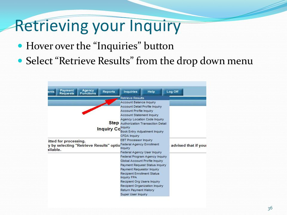 Retrieving your Inquiry