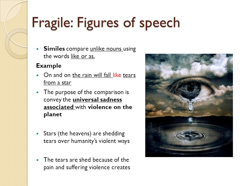 Fragile: Figures of speech