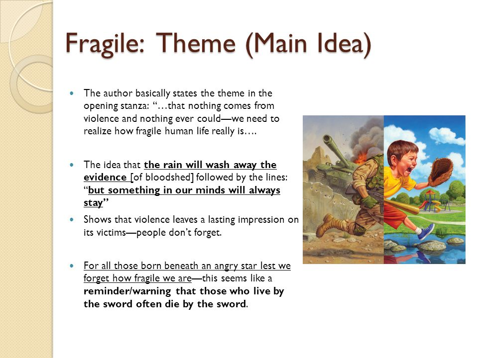 Fragile: Theme (Main Idea)