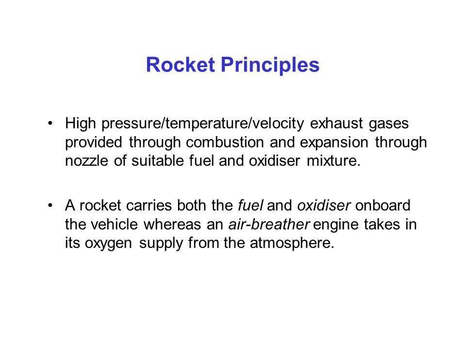 Rocket Principles