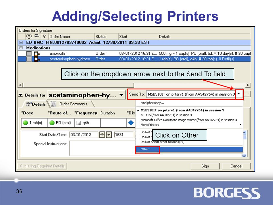 Adding/Selecting Printers
