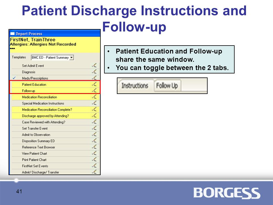 Patient Discharge Instructions and Follow-up