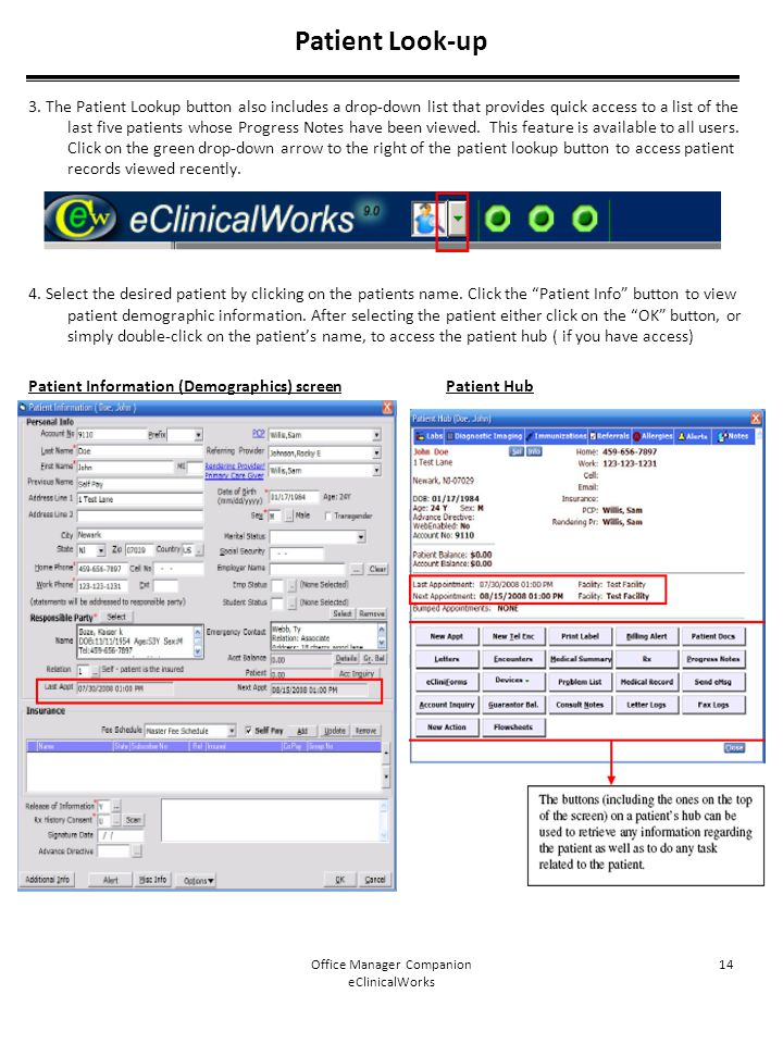 Office Manager Companion eClinicalWorks