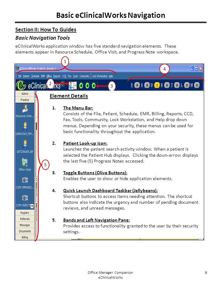 Basic eClinicalWorks Navigation