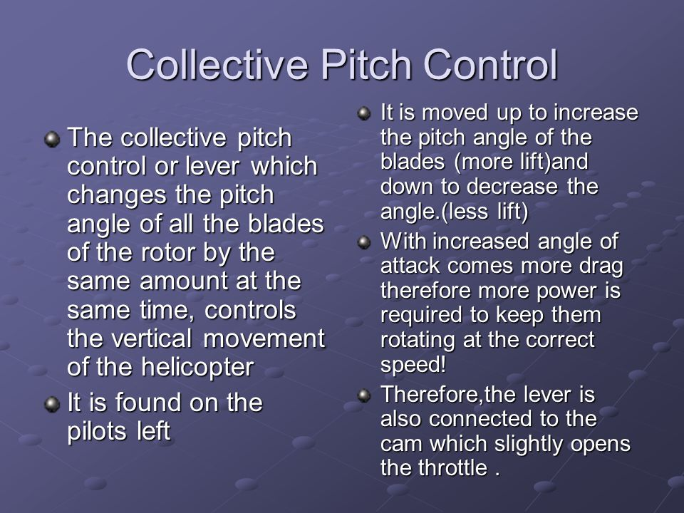 Collective Pitch Control