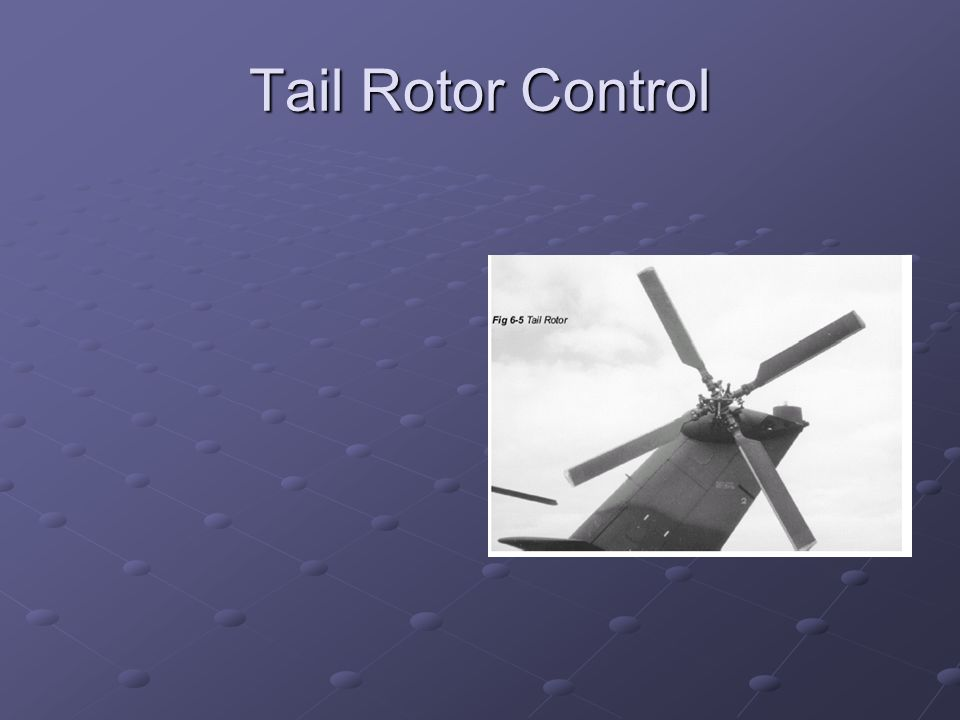 Tail Rotor Control