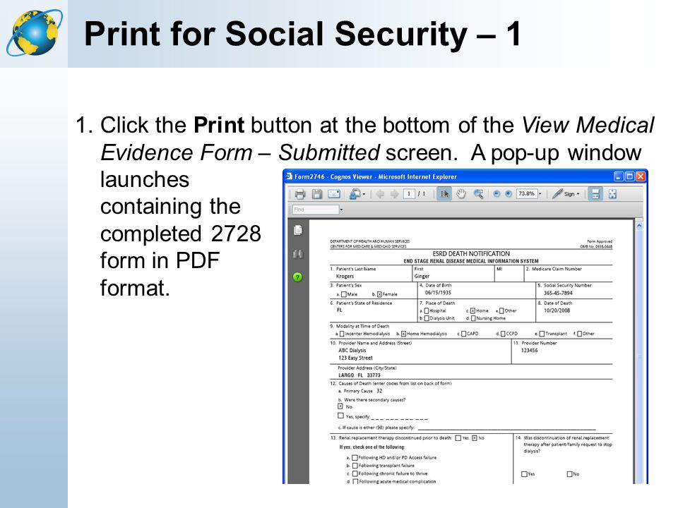 Print for Social Security – 1