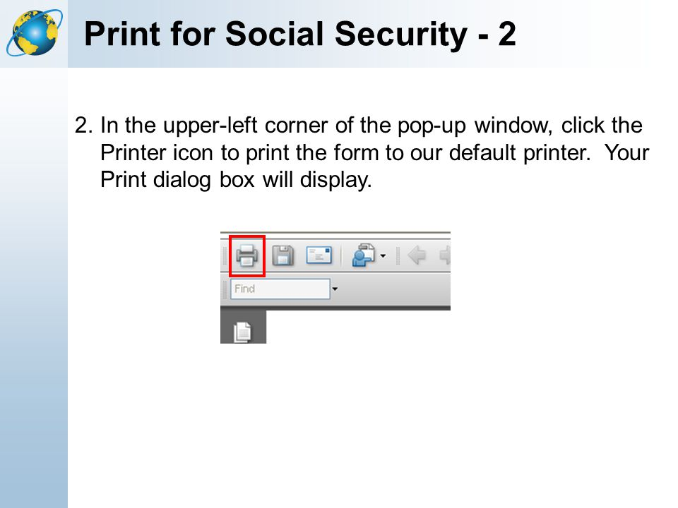 Print for Social Security - 2