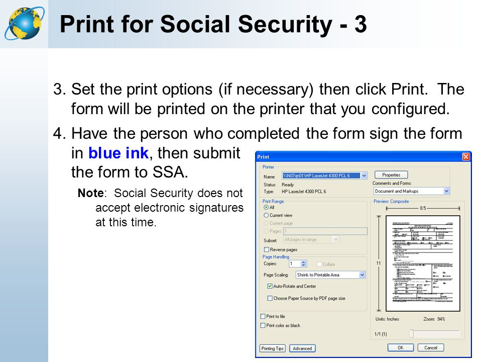 Print for Social Security - 3