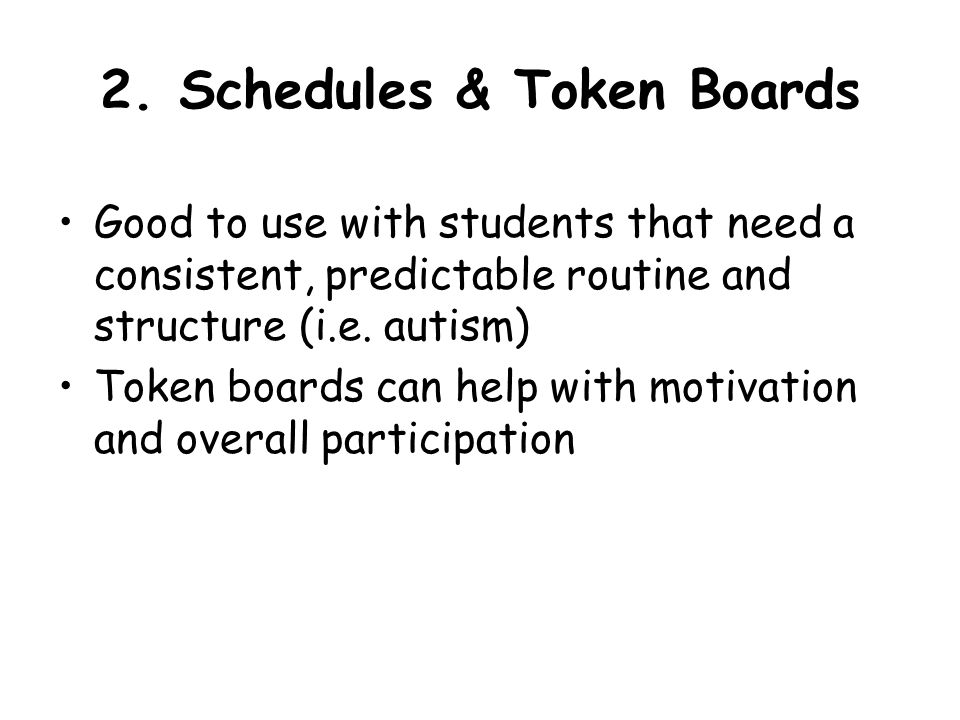 2. Schedules & Token Boards
